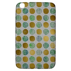 Green And Golden Dots Pattern                      Samsung Galaxy Tab 3 (7 ) P3200 Hardshell Case by LalyLauraFLM