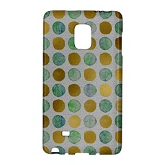 Green And Golden Dots Pattern                      Samsung Galaxy Note 4 Leather Folio by LalyLauraFLM