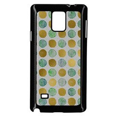 Green And Golden Dots Pattern                      Samsung Galaxy Note 4 Case (color) by LalyLauraFLM