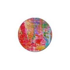 Colorful Watercolors Pattern                            Golf Ball Marker by LalyLauraFLM
