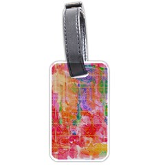 Colorful Watercolors Pattern                            Luggage Tag (one Side) by LalyLauraFLM