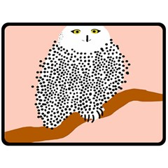 Animals Bird Owl Pink Polka Dots Fleece Blanket (large)  by Mariart