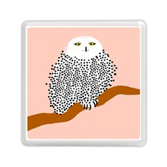 Animals Bird Owl Pink Polka Dots Memory Card Reader (square)  by Mariart