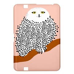 Animals Bird Owl Pink Polka Dots Kindle Fire Hd 8 9  by Mariart
