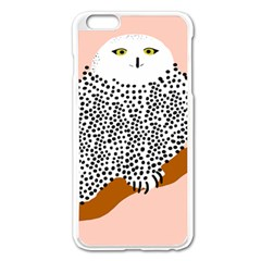 Animals Bird Owl Pink Polka Dots Apple Iphone 6 Plus/6s Plus Enamel White Case by Mariart