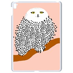 Animals Bird Owl Pink Polka Dots Apple Ipad Pro 9 7   White Seamless Case by Mariart