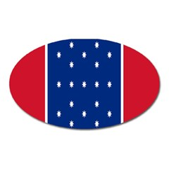 British American Flag Red Blue Star Oval Magnet by Mariart