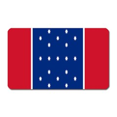 British American Flag Red Blue Star Magnet (rectangular) by Mariart