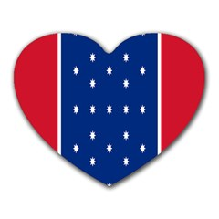 British American Flag Red Blue Star Heart Mousepads by Mariart