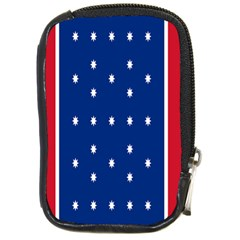 British American Flag Red Blue Star Compact Camera Cases by Mariart