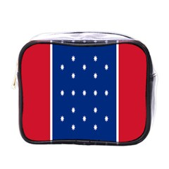 British American Flag Red Blue Star Mini Toiletries Bags by Mariart