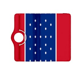 British American Flag Red Blue Star Kindle Fire Hdx 8 9  Flip 360 Case by Mariart