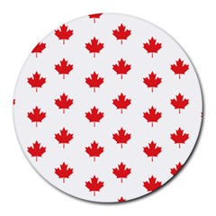 Canadian Maple Leaf Pattern Round Mousepads by Mariart