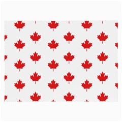 Canadian Maple Leaf Pattern Large Glasses Cloth (2 Side) by Mariart