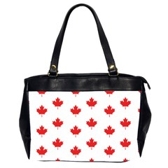 Canadian Maple Leaf Pattern Office Handbags (2 Sides)  by Mariart