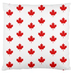 Canadian Maple Leaf Pattern Large Cushion Case (two Sides) by Mariart