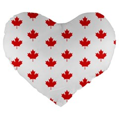 Canadian Maple Leaf Pattern Large 19  Premium Heart Shape Cushions by Mariart