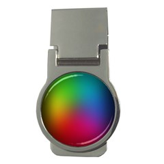 Bright Lines Resolution Image Wallpaper Rainbow Money Clips (round)  by Mariart