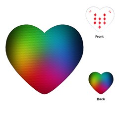 Bright Lines Resolution Image Wallpaper Rainbow Playing Cards (heart)  by Mariart