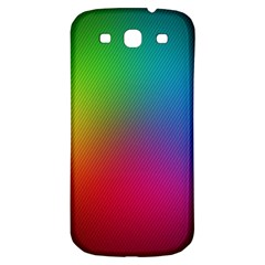Bright Lines Resolution Image Wallpaper Rainbow Samsung Galaxy S3 S Iii Classic Hardshell Back Case by Mariart