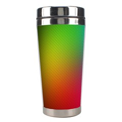 Bright Lines Resolution Image Wallpaper Rainbow Stainless Steel Travel Tumblers by Mariart