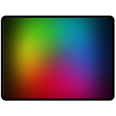 Bright Lines Resolution Image Wallpaper Rainbow Double Sided Fleece Blanket (large)  by Mariart