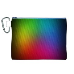 Bright Lines Resolution Image Wallpaper Rainbow Canvas Cosmetic Bag (xl) by Mariart