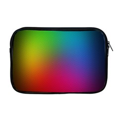 Bright Lines Resolution Image Wallpaper Rainbow Apple Macbook Pro 17  Zipper Case by Mariart