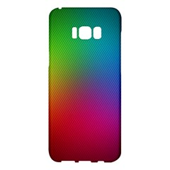 Bright Lines Resolution Image Wallpaper Rainbow Samsung Galaxy S8 Plus Hardshell Case  by Mariart