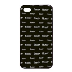 Beauty Moments Phrase Pattern Apple Iphone 4/4s Seamless Case (black) by dflcprints