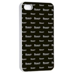 Beauty Moments Phrase Pattern Apple Iphone 4/4s Seamless Case (white) by dflcprints