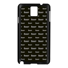 Beauty Moments Phrase Pattern Samsung Galaxy Note 3 N9005 Case (black) by dflcprints