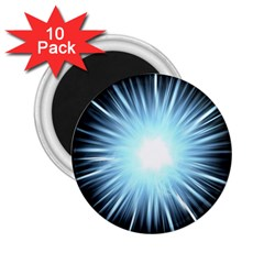 Bright Light On Black Background 2 25  Magnets (10 Pack)  by Mariart