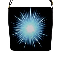 Bright Light On Black Background Flap Messenger Bag (l)  by Mariart