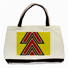 Chevron Symbols Multiple Large Red Yellow Basic Tote Bag by Mariart