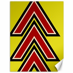 Chevron Symbols Multiple Large Red Yellow Canvas 36  X 48   by Mariart