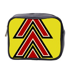 Chevron Symbols Multiple Large Red Yellow Mini Toiletries Bag 2 Side by Mariart