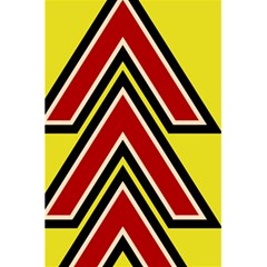 Chevron Symbols Multiple Large Red Yellow 5 5  X 8 5  Notebooks by Mariart