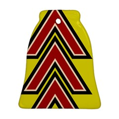 Chevron Symbols Multiple Large Red Yellow Bell Ornament (two Sides) by Mariart