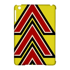 Chevron Symbols Multiple Large Red Yellow Apple Ipad Mini Hardshell Case (compatible With Smart Cover)