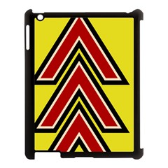Chevron Symbols Multiple Large Red Yellow Apple Ipad 3/4 Case (black) by Mariart