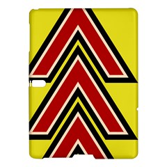 Chevron Symbols Multiple Large Red Yellow Samsung Galaxy Tab S (10 5 ) Hardshell Case  by Mariart