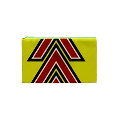 Chevron Symbols Multiple Large Red Yellow Cosmetic Bag (xs) by Mariart