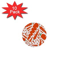 Carrots Fruit Vegetable Orange 1  Mini Buttons (10 Pack)  by Mariart