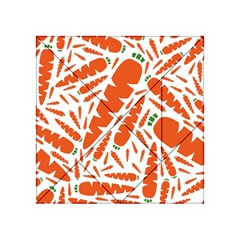 Carrots Fruit Vegetable Orange Acrylic Tangram Puzzle (4  X 4 ) by Mariart