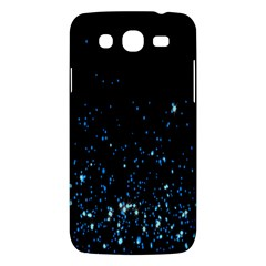 Blue Glowing Star Particle Random Motion Graphic Space Black Samsung Galaxy Mega 5 8 I9152 Hardshell Case  by Mariart