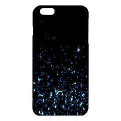 Blue Glowing Star Particle Random Motion Graphic Space Black Iphone 6 Plus/6s Plus Tpu Case by Mariart
