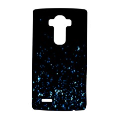 Blue Glowing Star Particle Random Motion Graphic Space Black Lg G4 Hardshell Case by Mariart