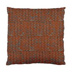 Brick Wall Brown Line Standard Cushion Case (two Sides) by Mariart