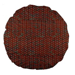 Brick Wall Brown Line Large 18  Premium Round Cushions by Mariart